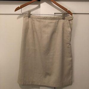 Mid-length Khaki Work Skirt